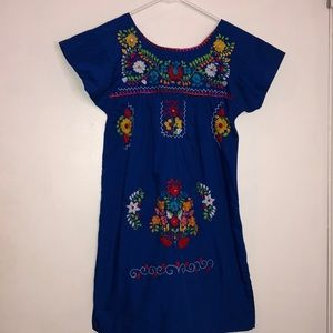 Authentic Mexican Girls Floral Dress